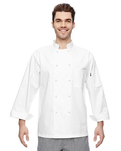 Dickies DC109 7 oz. Cloth Knot Button Chef Coat