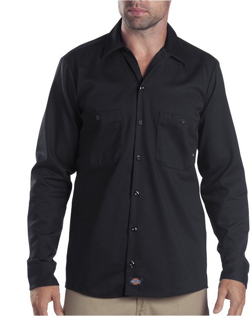 Dickies LL307T Industrial Long-Sleeve Cotton Work Shirt
