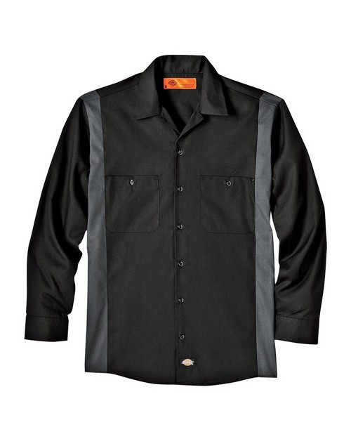 Dickies LL524 Industrial Long Sleeve Color Block Shirt
