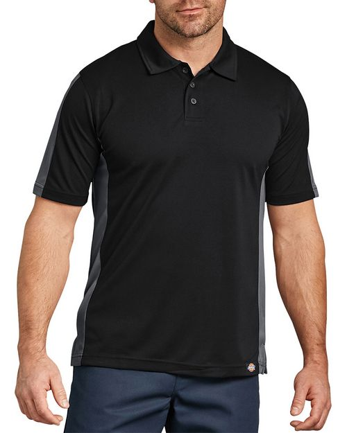 Dickies LS424 Unisex Industrial Color Block Performance Polo