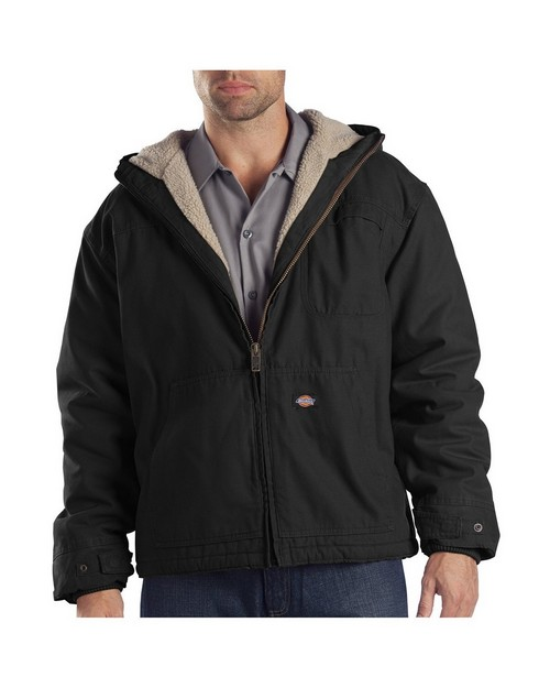 Dickies TJ350T Sanded Duck Sherpa Lined Hooded Jacket