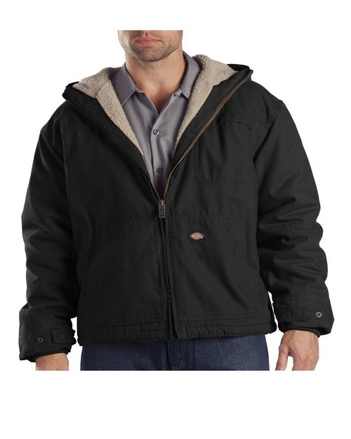 Dickies TJ350 Sanded Duck Sherpa Lined Hooded Jacket