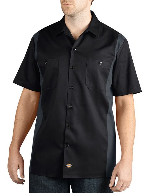 Dickies WS508 Mens Two-Tone Short-Sleeve Work Shirt