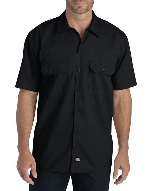 Dickies WS675 Mens FLEX Relaxed Fit Short-Sleeve Twill Work Shirt