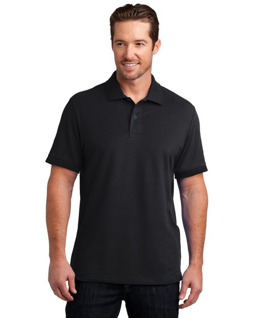 District Made DM325 Mens Stretch Pique Polo
