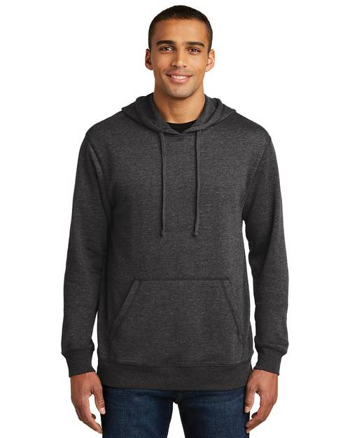 District Made DM391 Mens Lightweight Fleece Hoodie