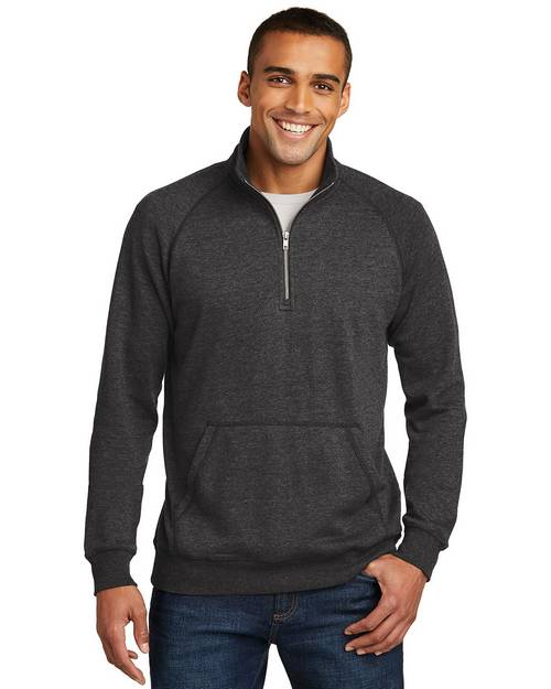 District Made DM392 Mens Lightweight Fleece 1/4 Zip Pullover