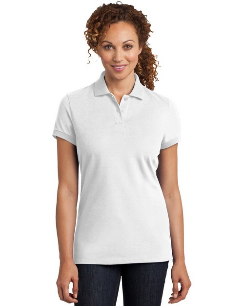 District Made DM425 Ladies Stretch Pique Polo