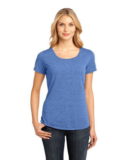District Made DM441 Ladies Lace Scoop Tee
