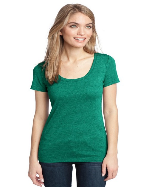 District DM471 Ladies Textured Scoop Tee