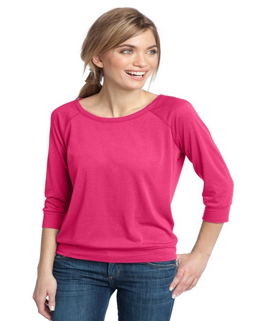 District DM482 Ladies Modal Blend 3/4-Sleeve Raglan