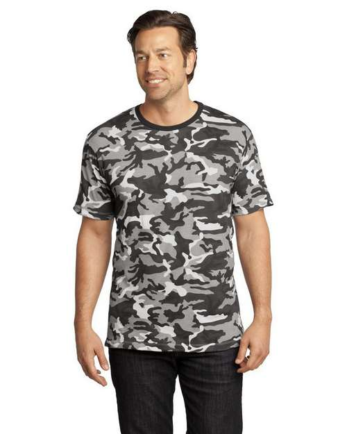 District Made DT104C Short Sleeve Camo Perfect Tee