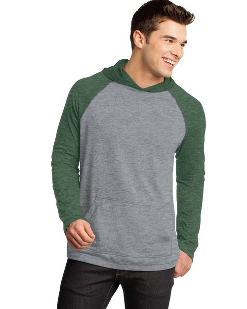 District DT128 Young Mens 50/50 Raglan Hoodie