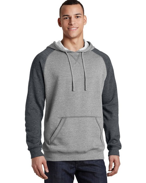 District DT196 Young Mens Lightweight Fleece Raglan Hoodie