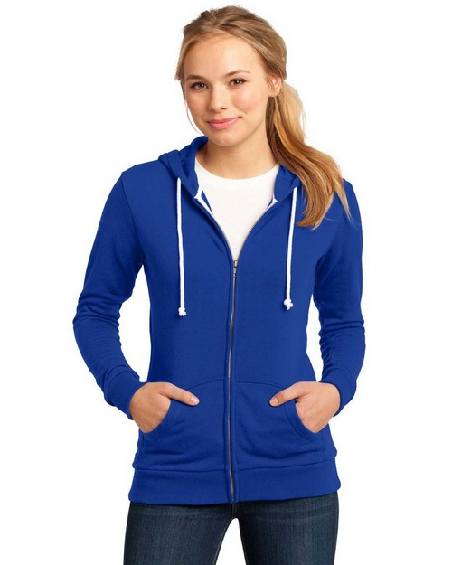 District DT290  Juniors Core Fleece Full-Zip Hoodie