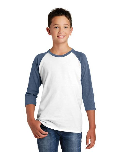 District DT6210Y Boys Very Important 3/4 Sleeve Raglan T-Shirt