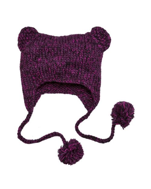 District DT626 Hand Knit Cat Eared Beanie