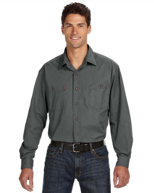 Dri Duck 4285 Mens Long-Sleeve Brick Workshirt