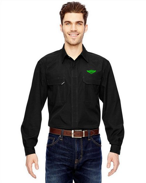Dri Duck Logo Embroidered Field Shirt - For Men