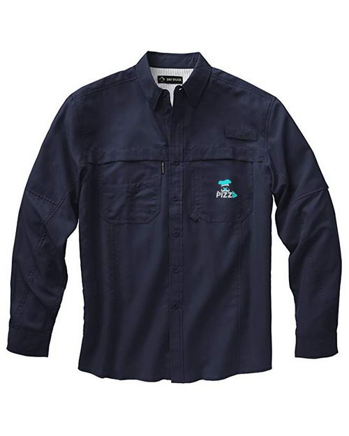 Dri Duck Logo Embroidered Performance Workshirt - For Men