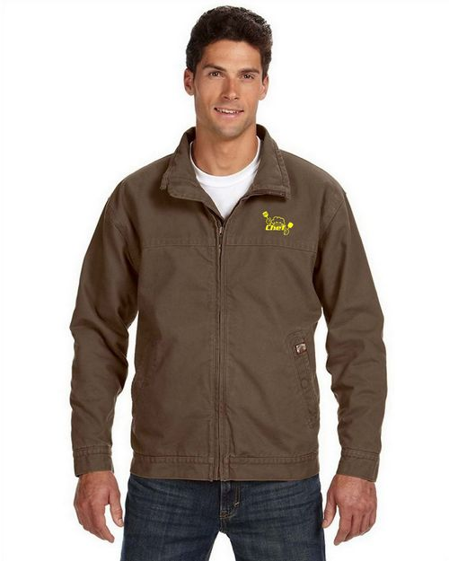 Dri Duck Logo Embroidered Maverick Canvas Jacket - For Men