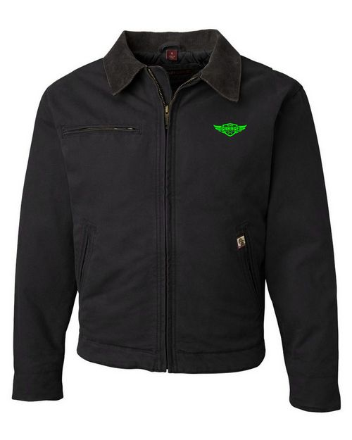 Logo Embroidered Dri Duck 5087 Outlaw Cotton Canvas Jacket