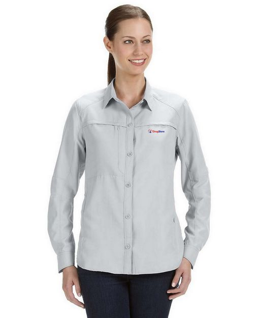 Dri Duck Logo Embroidered Release Fishing Shirt - For Women