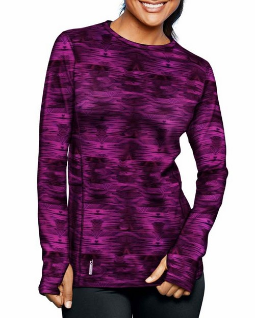 Duofold KCB3P Brushed Back Womens Crew (Prints)