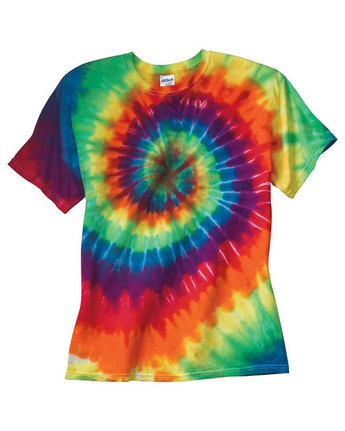Dyenomite 20BMS Youth Rainbow Spiral T Shirt
