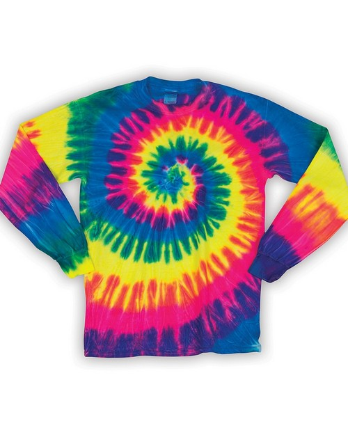 Dyenomite 240MS Spiral Tie-Dye Long Sleeve T-Shirt