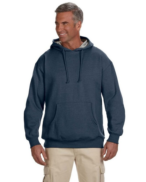 econscious EC5570 Organic/Recycled Heathered Fleece Pullover Hood