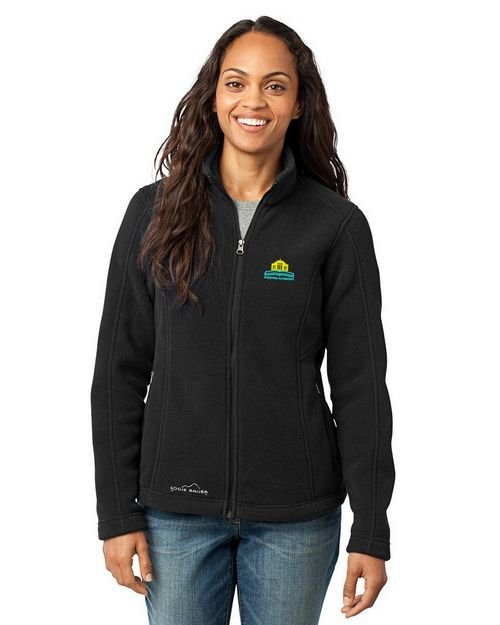 Eddie Bauer Logo Embroidered Full Zip Fleece Jacket - For Women