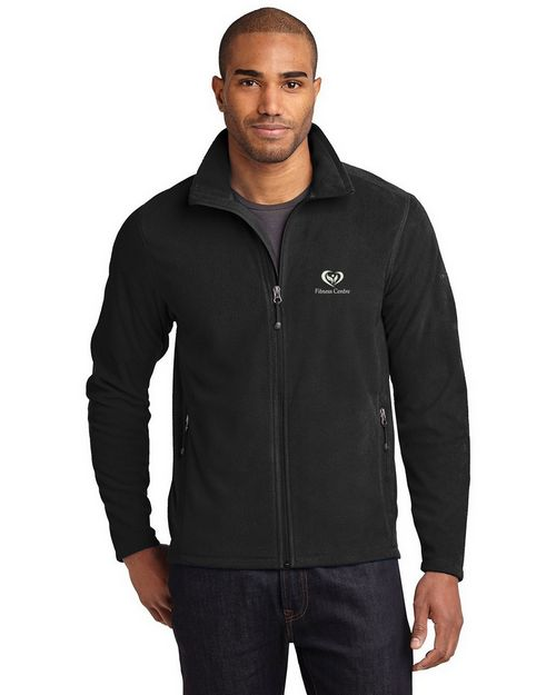 Eddie Bauer Full Zip Microfleece Jacket - Logo Embroidered - For Men