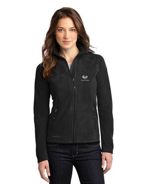 Eddie Bauer Logo Embroidered Full Zip Microfleece Jacket - For Women