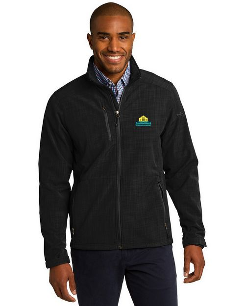 Eddie Bauer Logo Embroidered Shaded Crosshatch Shell Jacket - For Men