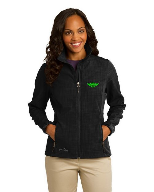 Eddie Bauer Logo Embroidered Shaded Crosshatch Shell Jacket - For Women