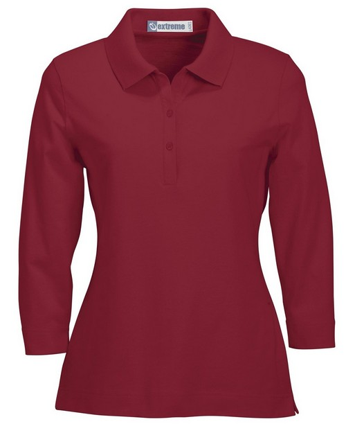 Extreme 75029 Ladies 3/4 Sleeve Stretch Jersey Polo