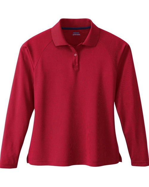 Extreme 75061 Ladies Long Sleeve Eperformance Pique Polo