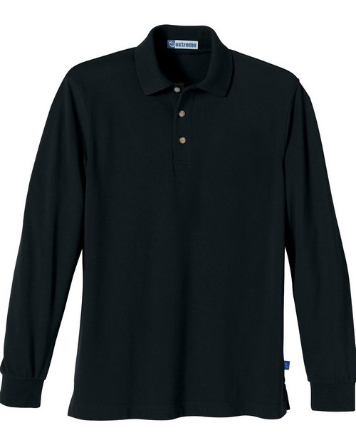 Extreme 85077 Mens Long Sleeve Pique Polo With Teflon