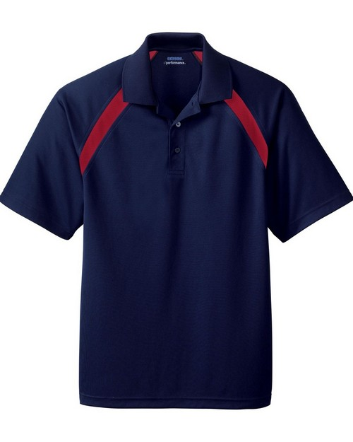 Extreme 85104 Mens Eperformance Color Block Pique Polo