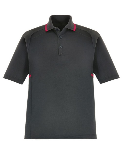 Extreme 85118 Propel Mens Eperformance Interlock Polo with Contrast Tape