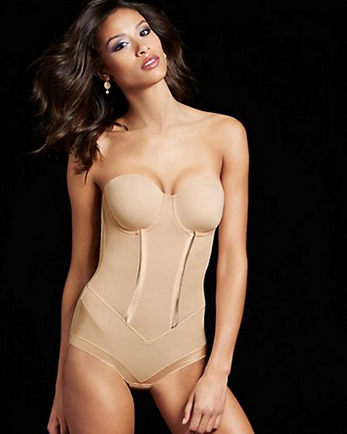 Maidenform 1256M Easy-Up Strapless Body Briefer