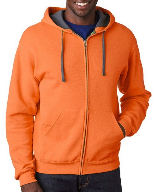 Fruit Of The Loom SF73 Adult Sofspun Full-Zip Hooded Sweatshirt