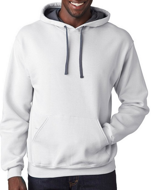 Fruit Of The Loom SF76 Adult Sofspun Hooded Sweatshirt