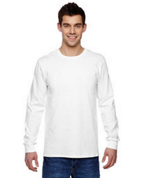 Fruit Of The Loom SFLR Sofspun Cotton Jersey Long Sleeve T-Shirt