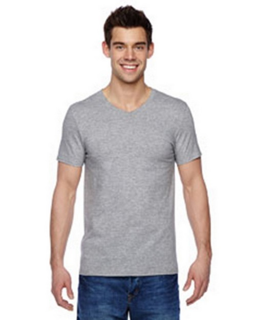 Fruit Of The Loom SFVR 100% Sofspun Cotton Jersey V-Neck T-Shirt