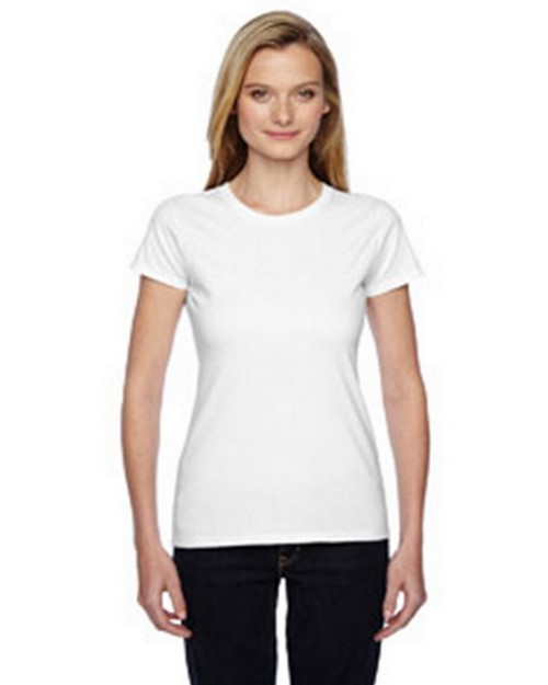 Fruit Of The Loom SSFJR Ladies Sofspun Cotton Jersey Junior Crew T-Shirt