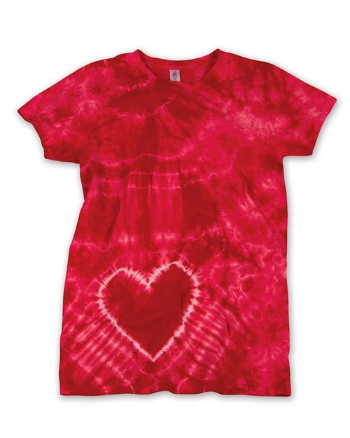 Gildan Tie-Dyes 55 Ladies Heart T-Shirt
