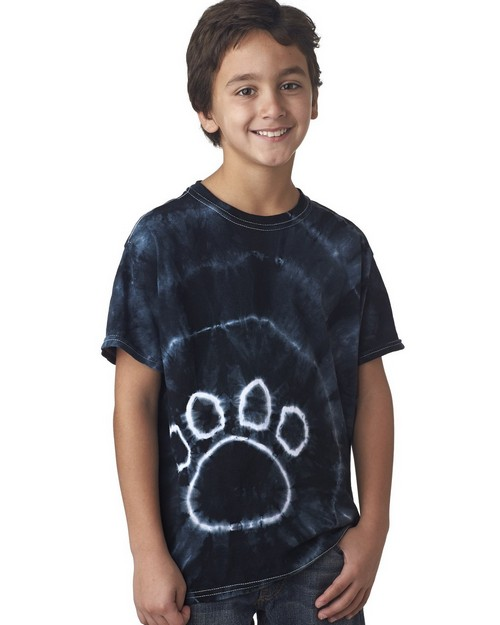 Gildan Tie-Dyes 58B Youth Pawprints Tee