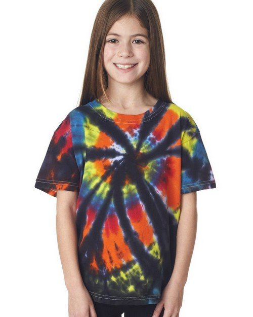 Gildan Tie-Dyes 60B Youth Rainbow Cut Spiral Tee